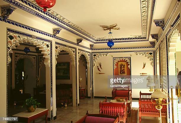 Interiors of a hotel, Lake Palace, Udaipur, Rajasthan, India