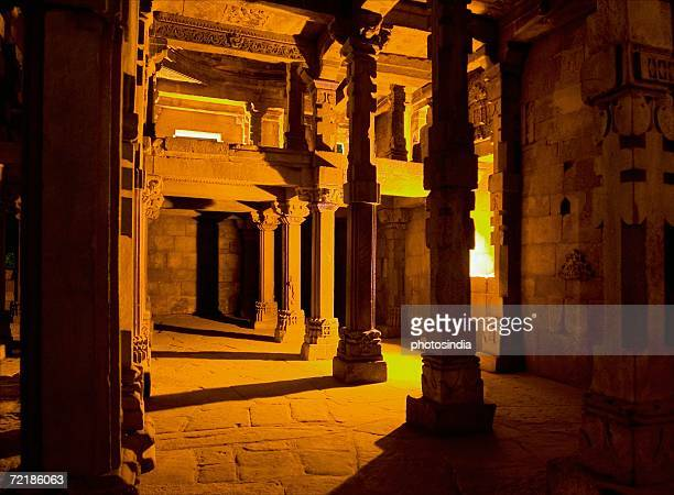 Interiors of a monument, Qutub Minar, Delhi, India