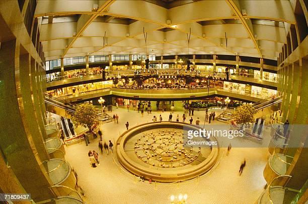 Interiors of a shopping mall, Hong Kong, China