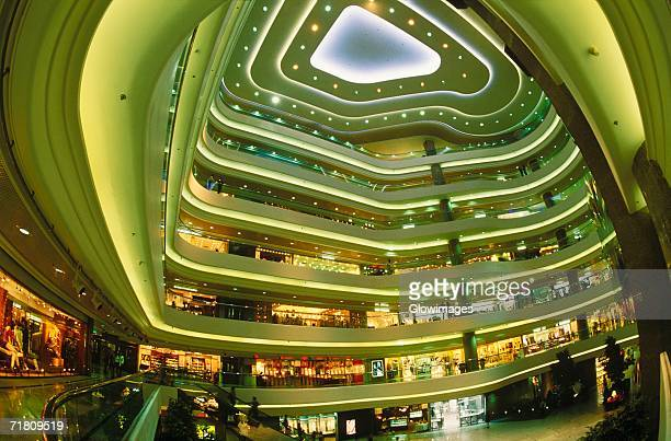 Interiors of a shopping mall, Hong Kong, China