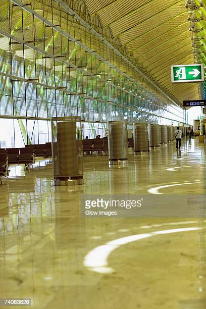 Interiors of an airport, Madrid, Spain