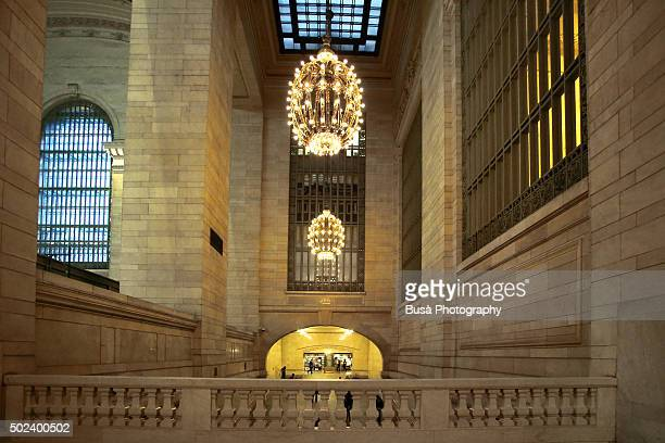 Interiors of Grand Central Terminal in Midtown Manhattan