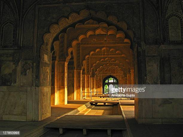 interiors of rang mahal - old delhi stock pictures, royalty-free photos & images