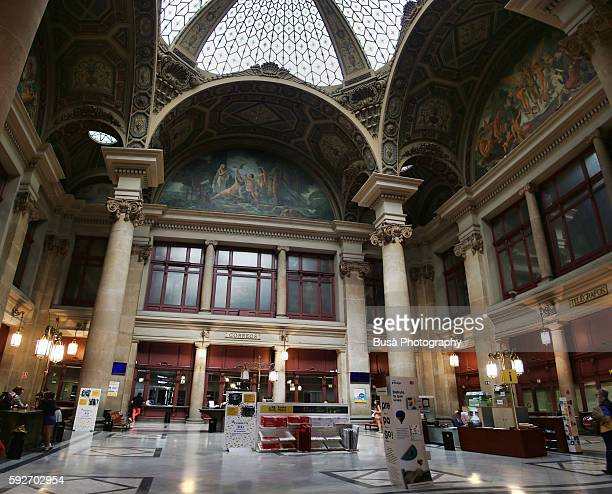 Interiors of the the Main Barcelona Post Office in Plaza d'Antonio Lopez in Barcelona, Spain