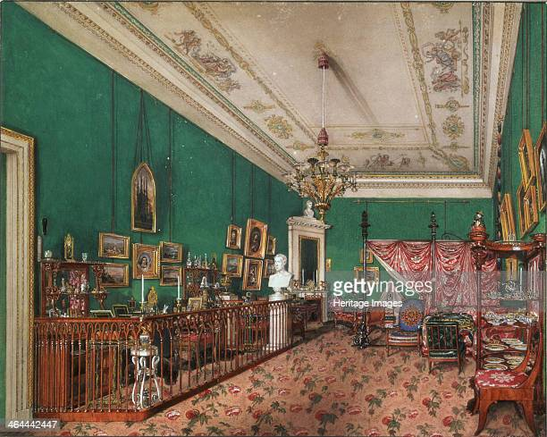 Interiors of the Winter Palace The Bedroom of Grand Princess Maria Nikolayevna 1837 Found in the collection of the State Hermitage St Petersburg