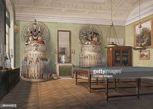 Interiors of the Winter Palace The Billiard Room of Emperor Alexander II Mid of the 19th cen Found in the collection of the State Hermitage St...