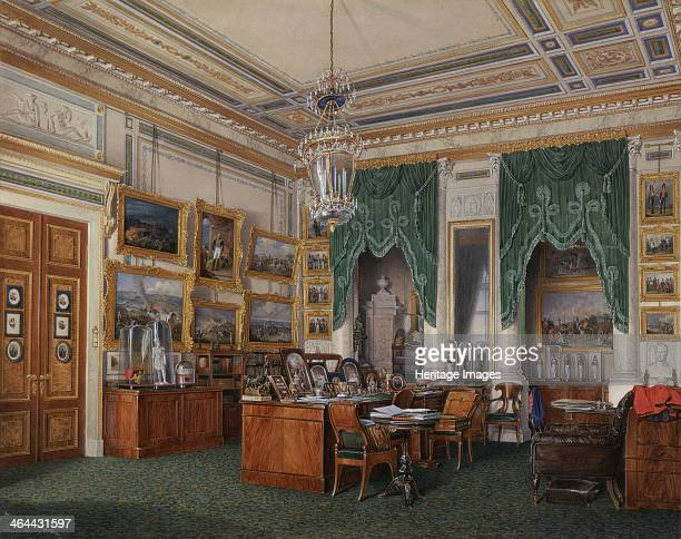 Interiors of the Winter Palace The Study of Emperor Alexander II 1857 Found in the collection of the State Hermitage St Petersburg