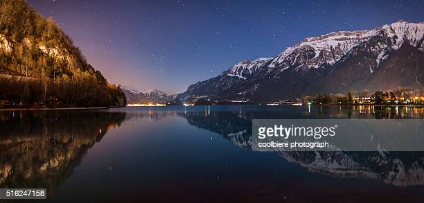 Interlaken lake with stars and reflection