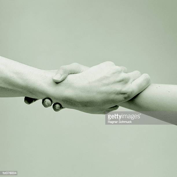 Interlocked hands