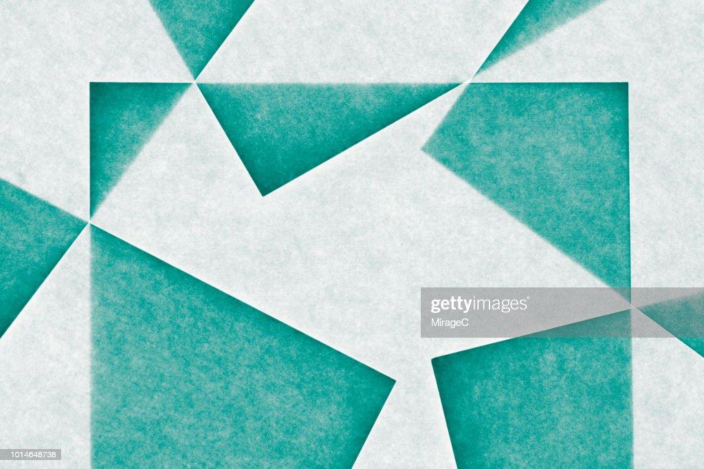 Interlocked Transluscent Paper : Stock Photo