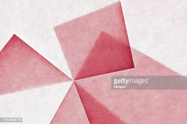 interlocked transluscent paper - 組み合わさる ストックフォトと画像
