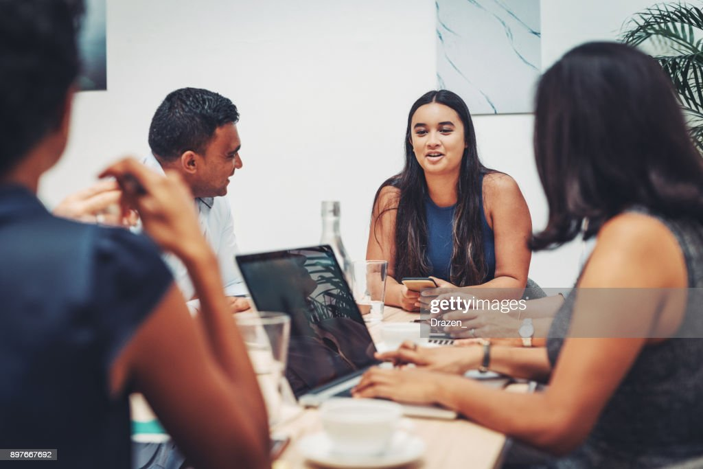 Intern in our company will become one of our best employees : Stock Photo