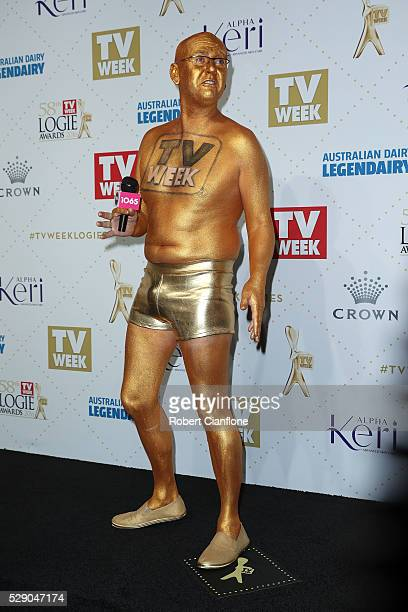 'Intern Pete' from Kyle Jackie O arrives at the 58th Annual Logie Awards at Crown Palladium on May 8 2016 in Melbourne Australia