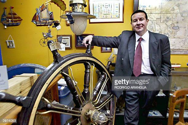 Internacionalist lawyer Antonio Jose Rengifo poses 12 February 2004 in Bogota Colombia Rengifo managed that a Colombian court rejected today a US...