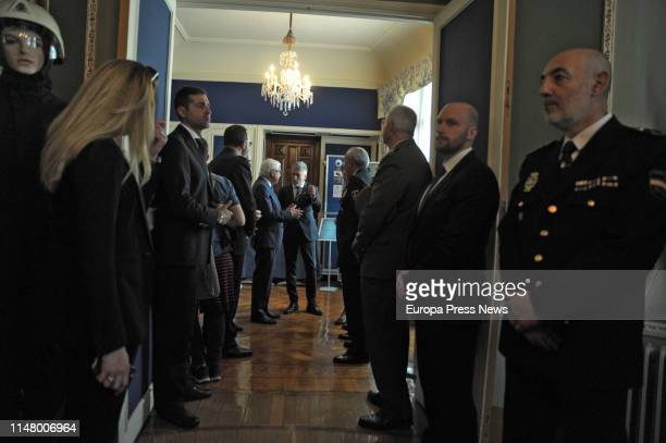 Internal Affairs minister Fernando GrandeMarlaska attends and exhibition to commemorate the 40th anniversary of the incorporation of women to the...
