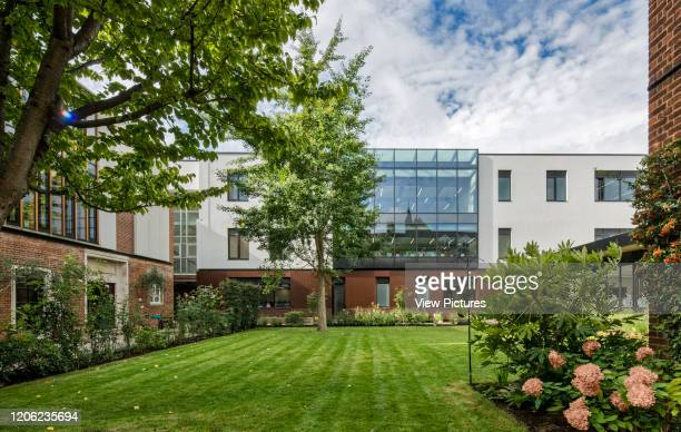 Internal courtyard and garden Thomas's Battersea London United Kingdom Architect Hugh Broughton Architects Limited 2017