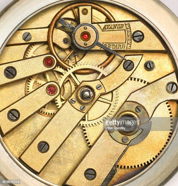 Internal Mechanism Of Edwardian Pocket Watch