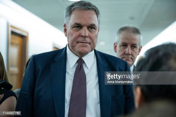 Internal Revenue Service Commissioner Charles Retting speaks to reporters after leaving a Financial Services and General Government Subcommittee...