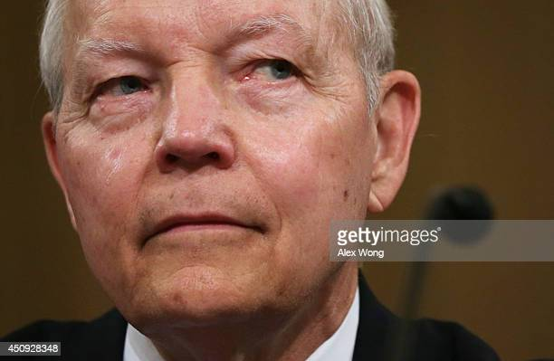 Internal Revenue Service Commissioner John Koskinen testifies during a hearing before the House Ways and Means Committee June 20 2014 on Capitol Hill...