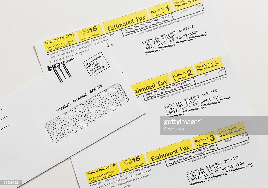 Internal Revenue Service Irs Form 1040es For Payment Of Estimated