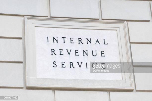 Internal Revenue Service sign in Washington DC