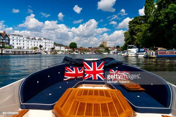 Internal shot of pleasure boat in Henley-on-Thames
