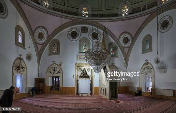 internal view of firdevs bey mosque in isparta,turkey. - emreturanphoto stock pictures, royalty-free photos & images