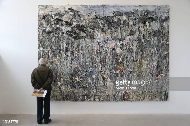Internal view of the Anselm Kiefer 'Morgenthau Plan' Exhibition Opening at Gagosian Gallery Le Bourget on October 18 2012 in Paris France