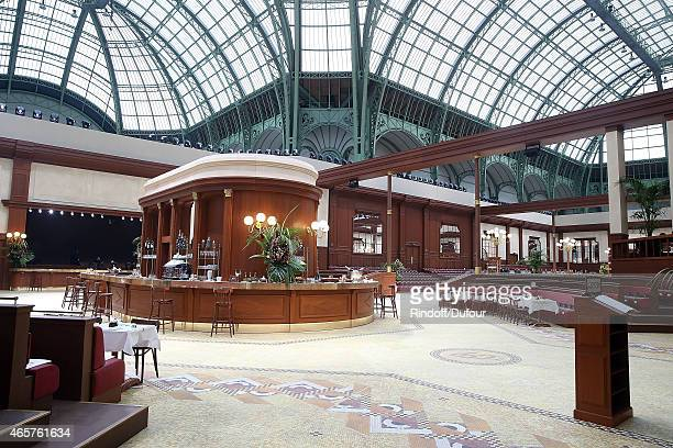 Internal View of the Chanel show as part of the Paris Fashion Week Womenswear Fall/Winter 2015/2016 at Grand Palais on March 10 2015 in Paris France
