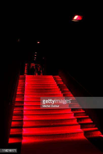 Internal view of the Giorgio Armani Prive Haute Couture Fall/Winter 2011/2012 show as part of Paris Fashion Week at Palais de Chaillot on July 5,...