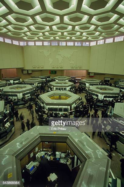 Internal view of the London Stock Exchange.