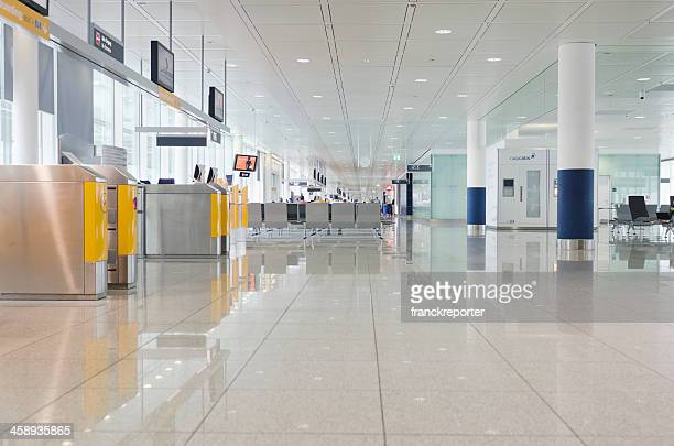internal view of the munich airport - munich airport stock photos and pictures
