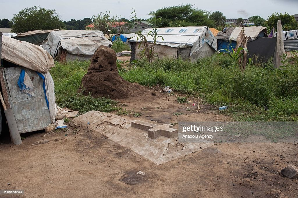 Internally displaced civilians live at Saint Mary camp, which has been set up near a cemetery in Juba, South Sudan on October 18, 2016.