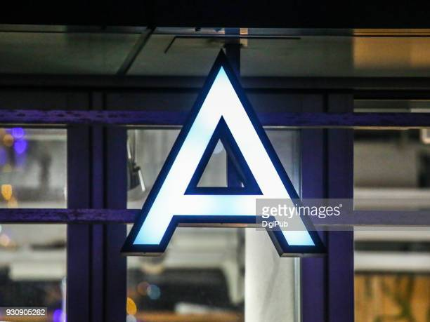 internally illuminated capital letter a - letter a stock pictures, royalty-free photos & images