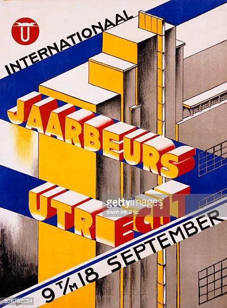Internationaal Jaarbeurs Utrecht Exhibition Poster by Anton Franciscus Pieck