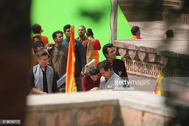 GARDEN JODHPUR RAJASTHAN INDIA International action star Jackie Chan Bollywood actor Sonu Sood and Disha Patani shoot for the upcoming movie Kung Fu...