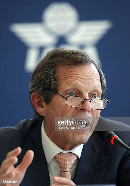 International Air Transport Association CEO's Giovanni Bisignani speaks to media during the World Air Transport Summit and 64th IATA General Meeting...