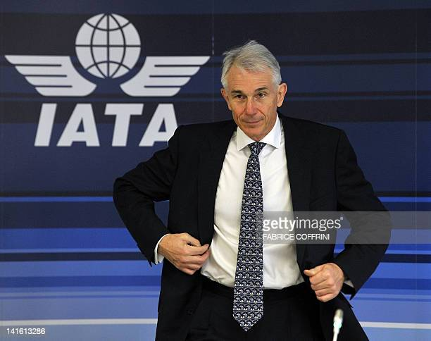 International Air Transport Association Director General and CEO Tony Tyler arrives to a press conference on an updated forecast of the airline...