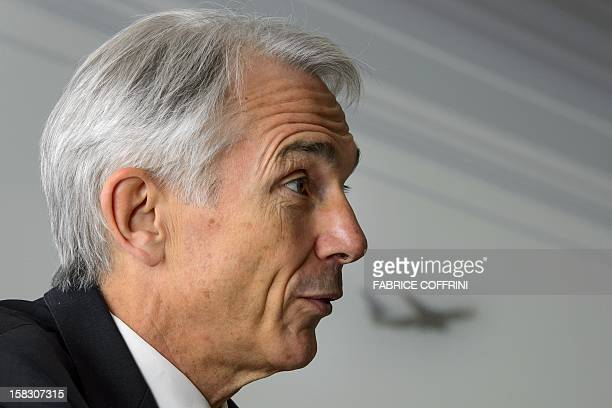 International Air Transport Association Director General and CEO Tony Tyler delivers a speech at the IATA global media day on December 13 2012 in...