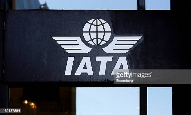 International Air Transport Association signage is displayed outside of the company's headquarters in Montreal Quebec Canada on Saturday Nov 5 2011...