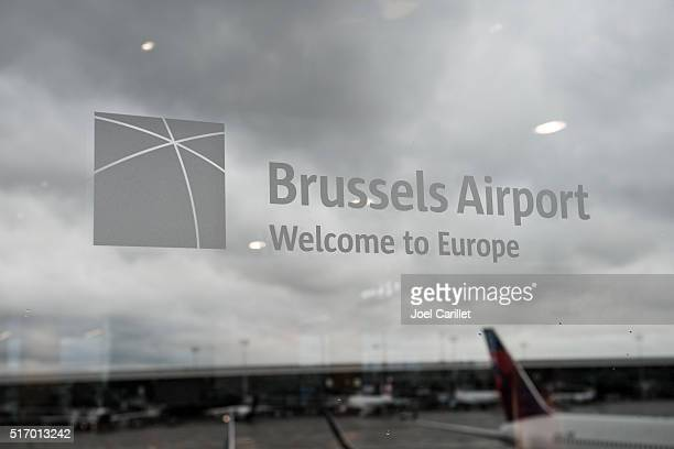 international airport in brussels, belgium - zaventem airport stock pictures, royalty-free photos & images