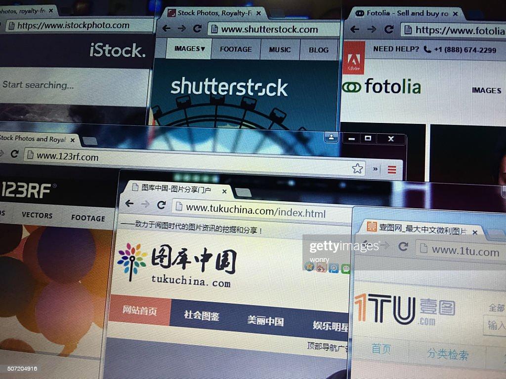 International and china mainly microstock photo websites. : Stock Photo
