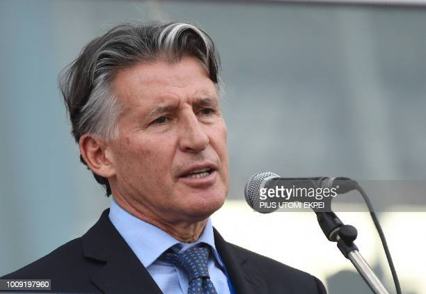 International Association of Athletics Federations President Sebastian Coe speaks during the opening of the 21st African Senior Athletics...