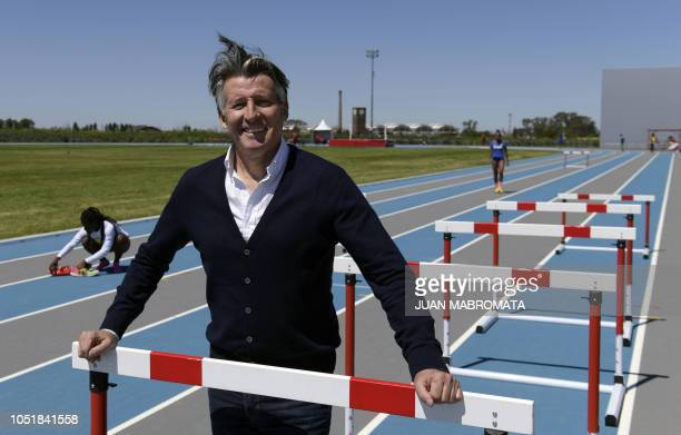 International Association of Athletics Federations President Sebastian Coe poses after an interview with AFP at the Youth Olympic Park in Buenos...