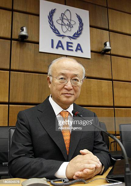 International Atomic Energy Agency Director General Yukiya Amano attends a meeting of the IAEA Board of Governors on September 11, 2013 in Vienna,...