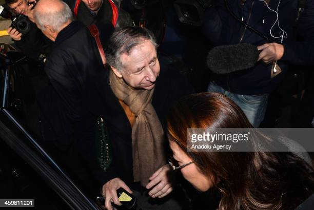 International Automobile Federation President Jean Todt and his wife Michelle Yeoh visit Micheal Schumacher at Grenoble University Hospital Centre on...