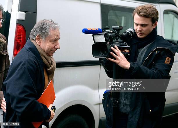 International Automobile Federation President Jean Todt arrives at the Grenoble University Hospital Centre to visit German Formula One world champion...