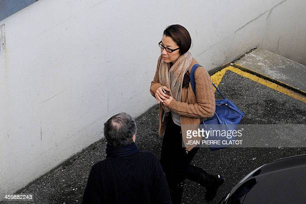 International Automobile Federation President Jean Todt of France and his wife Malaysian actress Michelle Yeoh arrive to visit German Formula One...