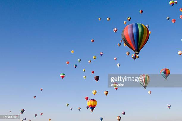 international balloon fiesta - balloon ride stock pictures, royalty-free photos & images
