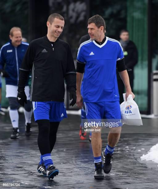 International beim Home of FIFA Legends Game 2017 FIFA stellvertretender Generalsekretaer Zvonimir Boban und UEFA Praesident Aleksander CEFERIN